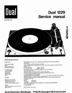 Dual 1229 Turntable Service Manual