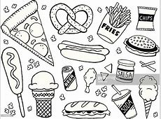 Unhealthy Food Clipart Black And White