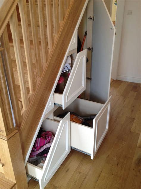 understair storage 3 under stairs storage ideas for your home george quinn stair parts plus