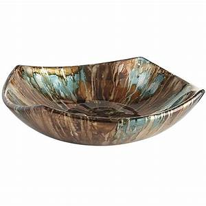 Turquoise & Taupe Foiled Bowl Pier 1 Imports Taupe