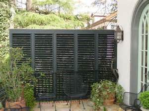 Outdoor Shutter Privacy Screen