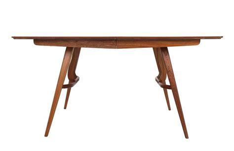 mid century modern dining table base mid century modern walnut sculptured base dining table for