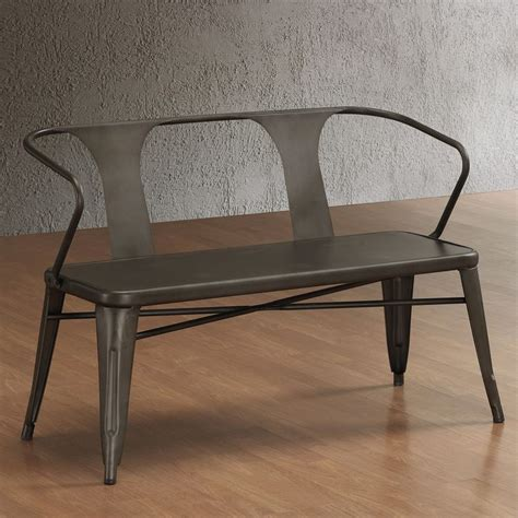 tabouret vintage metal bench with back overstock 209 ny apartment ideas