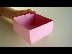 Geschenkbox Selber Basteln : schachtel falten kisten basteln mit papier geschenkbox selber machen ~ Watch28wear.com Haus und Dekorationen