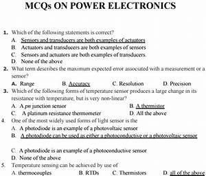 Power Electronics Bits Mcq Multiple Choice Questions And Answers Pdf