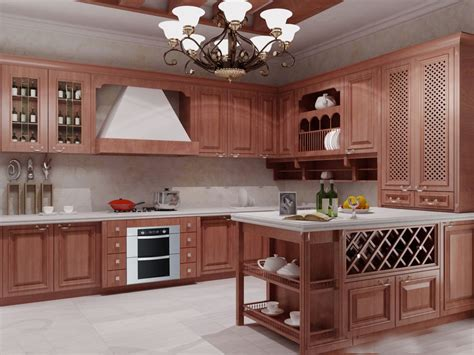 buy  customized solid wood kitchen