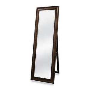 floor mirror bed bath beyond golden bronze 20 inch x 60 inch floor mirror with easel www bedbathandbeyond com