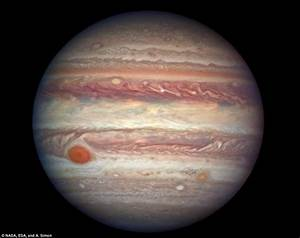 Jupiter shows off its famous Red Spot in Nasa Hubble photo ...