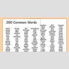 200 Common Words List  200, Common, Words, List, Common Words