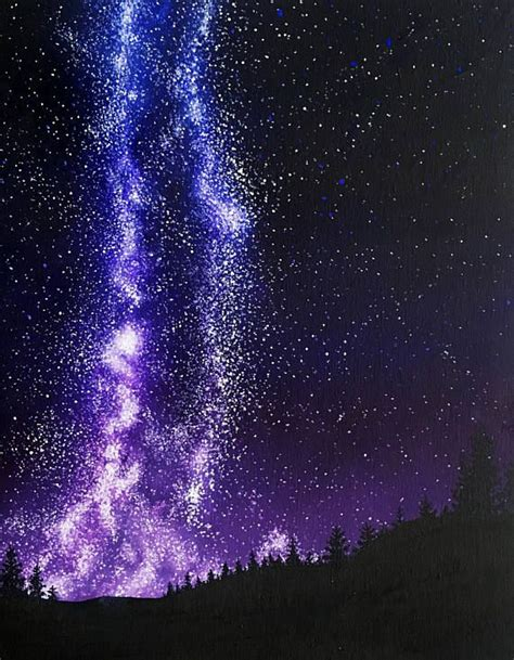 Milky Way Galaxy Art Star Painting Celestial Home Decor