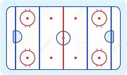 Hockey Ice Rink Field Clipart Vector Greetings