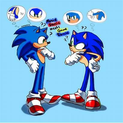Sonic Movie Meets Cartoon