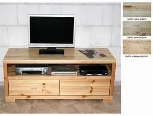 Massivholz TV Lowboard Kate TV Mbel Kiefer Massiv Natur