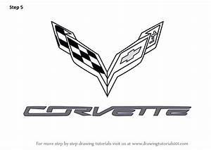 Learn How to Draw Corvette Logo (Brand Logos) Step by Step ...