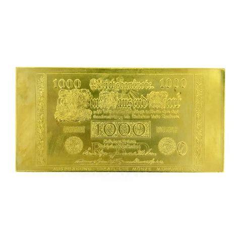 20 jahre deutsche 1000 dm banknote in gold