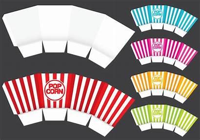 Popcorn Template Pipoca Caixa Vorlage Molde Vecteezy
