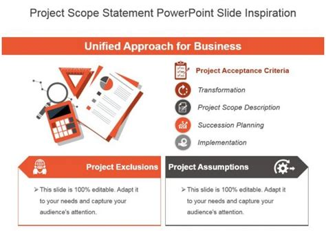 project scope statement powerpoint  inspiration