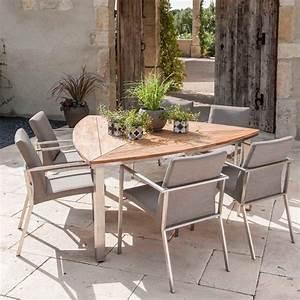 Table Exterieur Pliante : table de jardin pliante en bois en teck design c t maison ~ Teatrodelosmanantiales.com Idées de Décoration