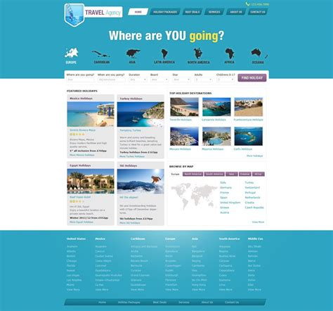 Tourism Landing Page Templates by Travel Website Template Free Travel Agency Website