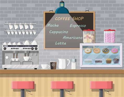 Download coffee shop cartoon images and photos. Best Coffee Shop Interior Illustrations, Royalty-Free ...