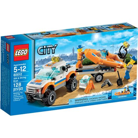 walmart 4 l set lego city coast guard 4x4 diving boat play set walmart