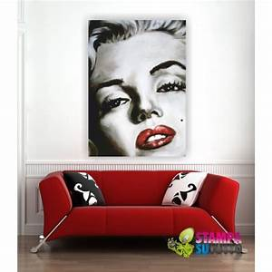 Quadro intelaiato tela pittorica ecopelle marilyn monroe for Quadri di marilyn monroe