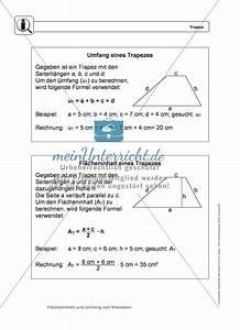 Flächeninhalt Und Umfang Berechnen übungen : umfang und fl cheninhalt eines trapez meinunterricht ~ Themetempest.com Abrechnung