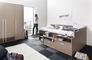 lit ado avec rangements gautier dimix With tapis de gym avec canapé convertible pour chambre ado