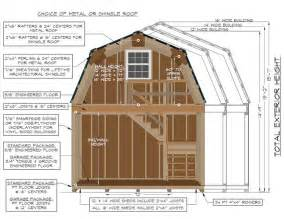 construction specifications on a 2 story gambrel barn from pine creek structures new home