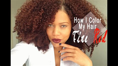 How I Color My Natural Hair At Home Naturtint Fire Red