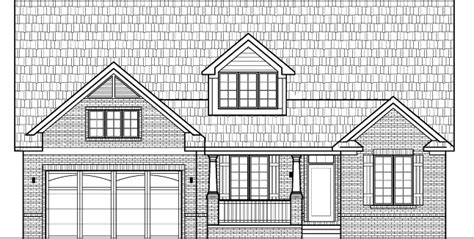 small brick house floor plans drawings  garage