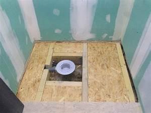 artisan realisation installation douche a l39italienne a With salle de bain sur plancher bois