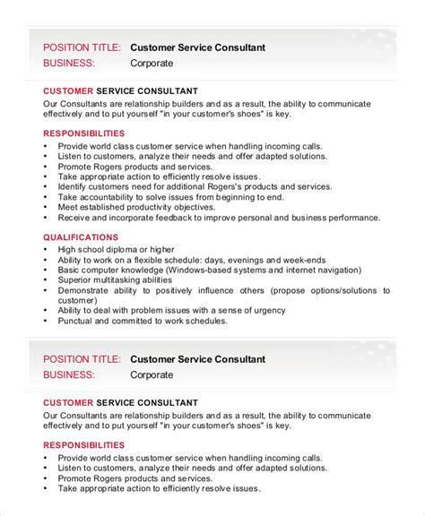 11+ Consultant Job Description Templates Free