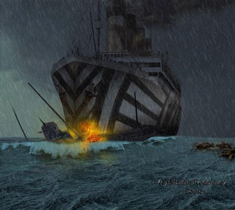 rms olympic sinking u boat doomsday for u 103 by 121199 on deviantart
