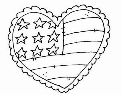 Coloring Memorial Pages Patriotic Printable Flag Sheets