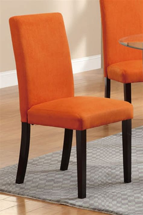 poundex  orange fabric dining chair steal  sofa