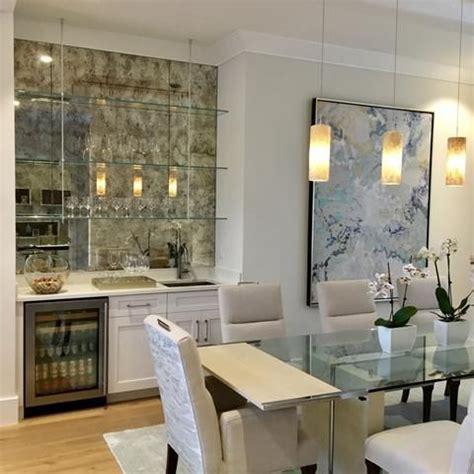 antiqued mirrored tile  kitchen  splashes