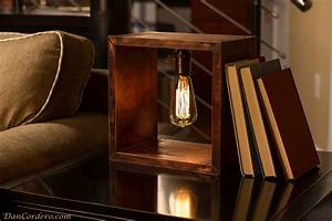 shadow box edison lamp table lamp desk lamp bedside With building a cherry wood floor lamp retro style