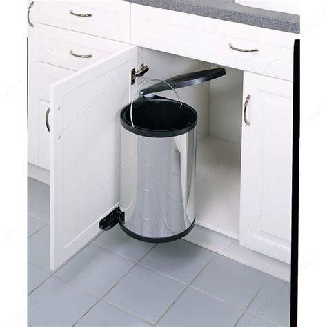 poubelles de cuisine encastrables poubelle pivotante 1 x 15 litres quincaillerie richelieu