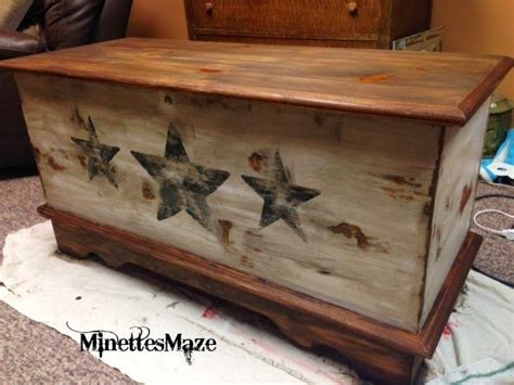 refurbished cedar chest wood box decor trunks