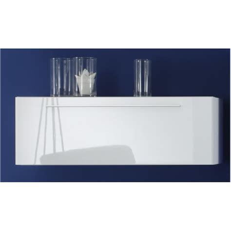 meuble suspendu blanc laque