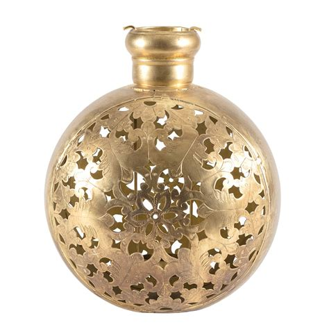 Handcrafted Vases by Handcrafted Vase Shape Lantern Antiq Gold 27x20x31cm