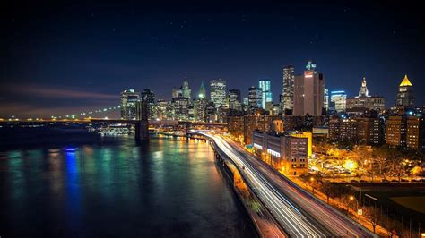 HD Nice Night View of City and Road Photos | HD Wallpapers