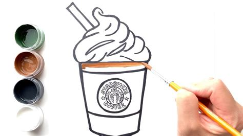 Be cautious with basic drinks: 【Drawing】Glitter Coffee coloring for kids -Starbucks Frappuccino - YouTube