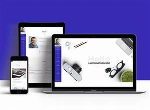Portfolio Resume Style Website Templates Free Psd