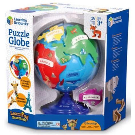 Детски глобус - пъзел - континенти и животни