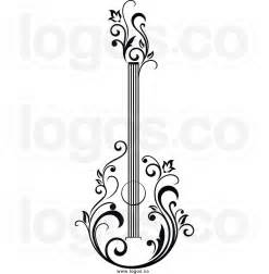 Acoustic Guitar Clip Art Black and White