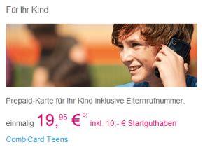 Kinder Prepaid Karte