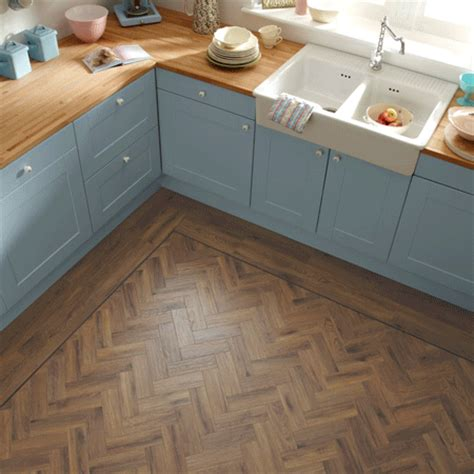 vinyl tile in kitchen ap06 morning oak parquet karndean select wood 6907