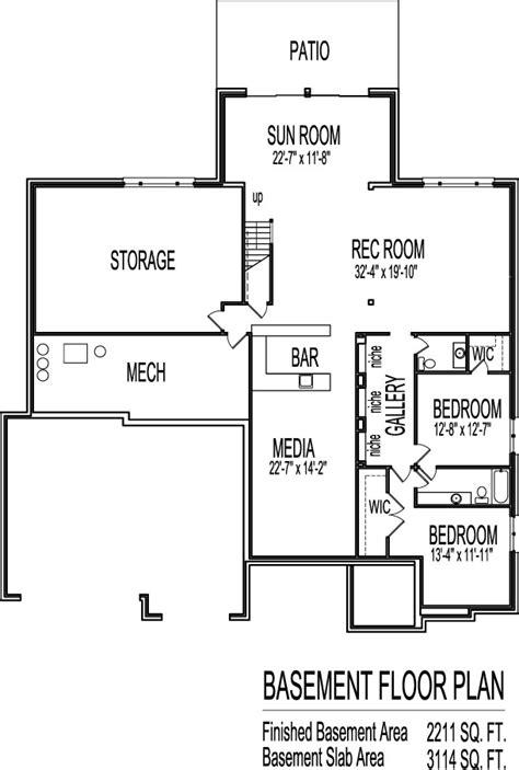 modern bungalow house floor plans design drawings
